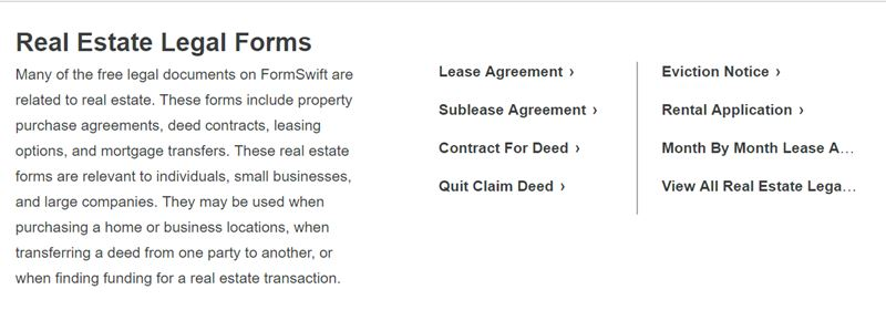 Full FormSwift Document Creation Software Review All You Need To - Real estate legal documents