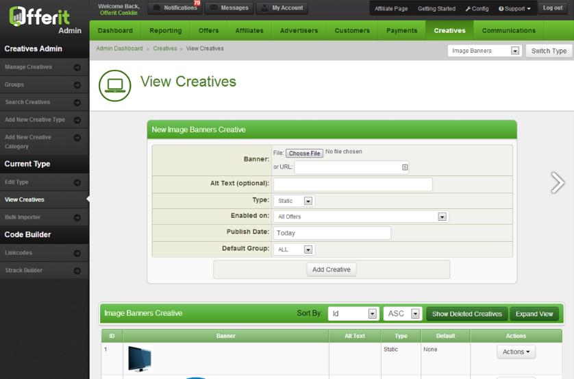 Offerup Affiliate Marketing Software creatives