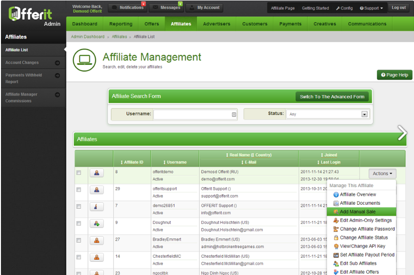 offerup affiliate marketing software affiliate manager